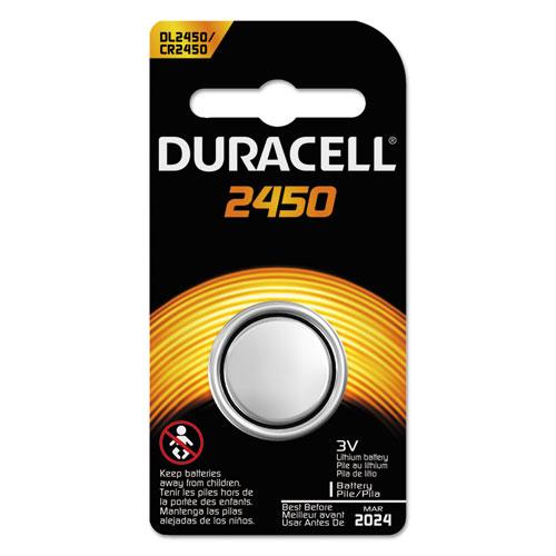Duracell® Button Cell Lithium Battery, #2450, 36/Carton