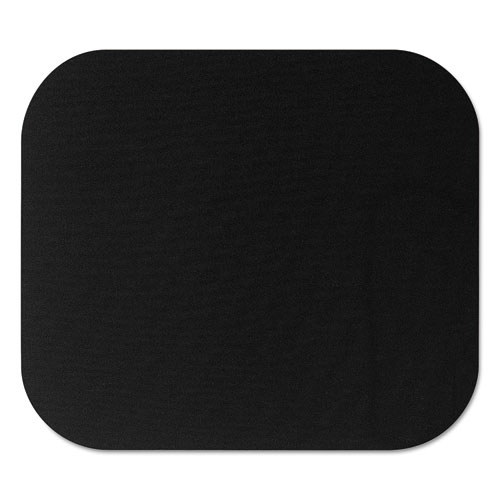 Polyester Mouse Pad, Nonskid Rubber Base, 9 x 8, Black | by Plexsupply