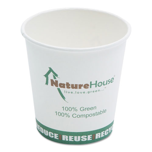 Savannah Supplies Inc. C010 Compostable Paper/Pla Cup- 10 Oz- Black- 50Per Pack C010