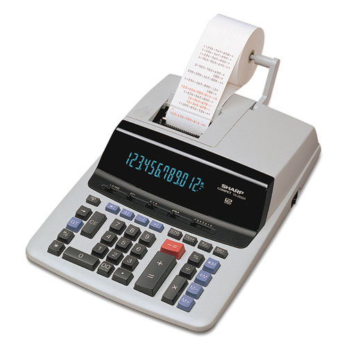 VX2652H Two-Color Printing Calculator, Black/Red Print, 4.8 Lines/Sec | by Plexsupply
