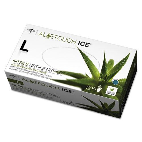 Aloetouch Ice Nitrile Exam Gloves, Large, Green, 200/Box