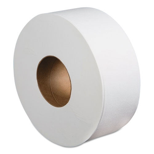 Jumbo Roll Bathroom Tissue, Septic Safe, 2-Ply, White, 3.4 x 1000 ft, 12 Rolls/Carton
