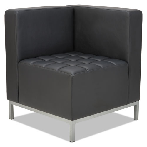Alera QUB Series Corner Sectional, 26.38w x 26.38d x 30.5h, Black | by Plexsupply