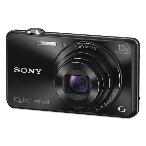 DSC-WX220/B Compact Point and Shoot Digital Still Camera, Black