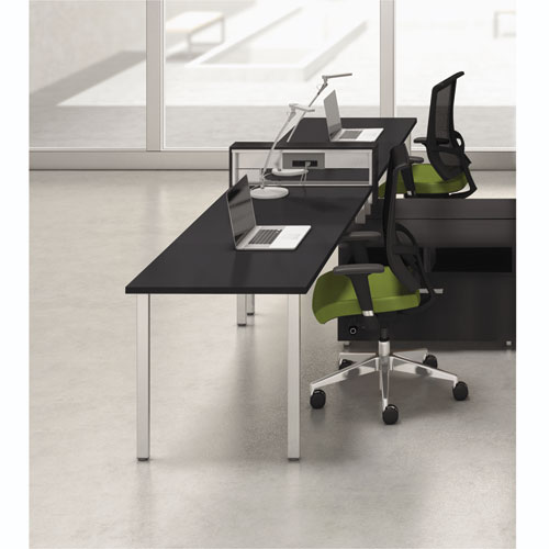 Mayline® e5 Two-Person Workstation with Beltway, 123-1/2w x 73d x 29-1/2h, Raven
