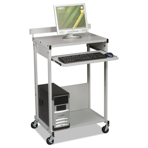 Max Stax Dual Purpose Printer Stand Three Shelf 25w X 20d 42 1 2h Gray Boss Office And Computer Products