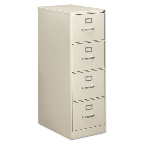 310 Series Four-Drawer Full-Suspension File, Legal, 18.25w x 26.5d x 52h, Light gray