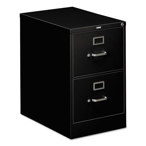 310 Series Two-Drawer Full-Suspension File, Legal, 18.25w x 26.5d x 29h, Black