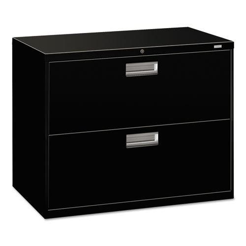 600 Series Two-Drawer Lateral File, 36w x 18d x 28h, Black