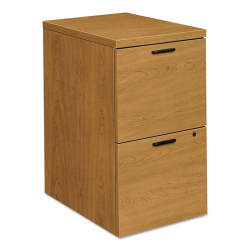 HON® 10500 Series File/File Mobile Pedestal, 15 3/4w x 22 3/4d x 28h, Harvest