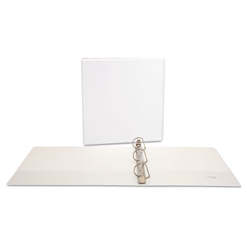 Slant-Ring View Binder, 3 Rings, 1.5 Capacity, 11 x 8.5, White, 4/Pack
