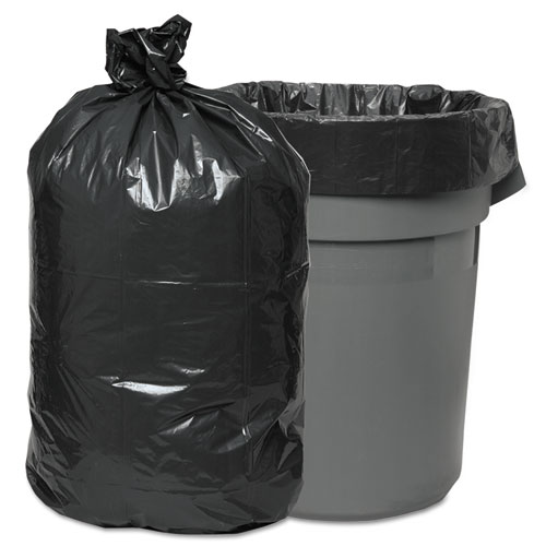 Low-Density Waste Can Liners, 60 gal, 0.95 mil, 38 x 58, Gray, 100/Carton