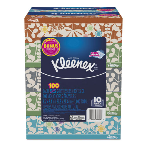 Everyday Tissues, 2 Ply, White, 85/Box, 10 Boxes/Pack, 4 Packs/Carton