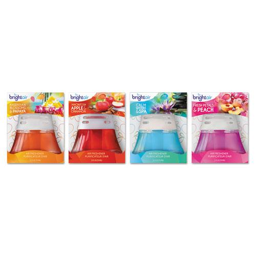 BRIGHT Air® Scented Oil Air Freshener, Hawaiian Blossoms and Papaya, Orange, 2.5oz