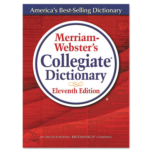 Merriam-Webster's Collegiate Dictionary, 11th Edition, Hardcover, 1,664 Pages | by Plexsupply