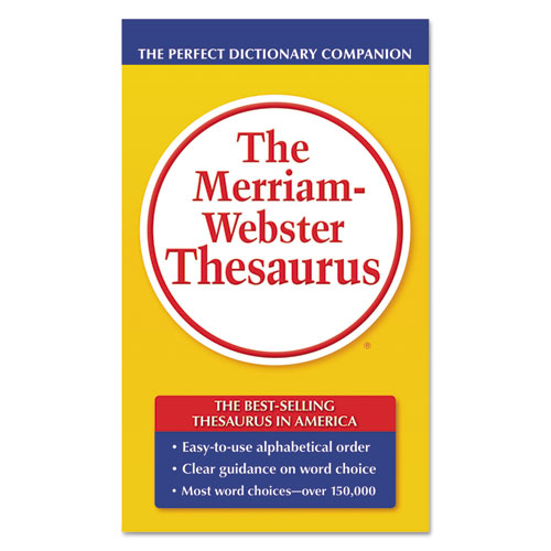 The Merriam-Webster Thesaurus, Dictionary Companion, Paperback, 800 Pages | by Plexsupply