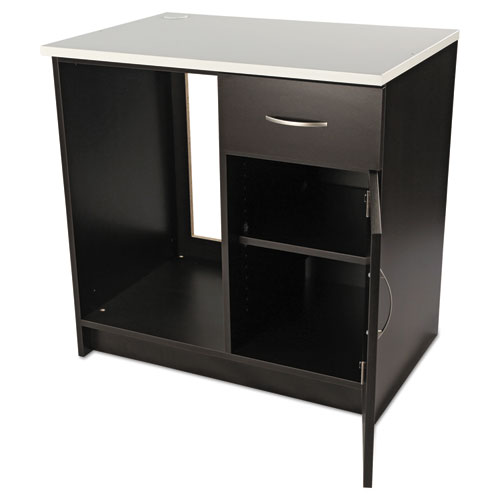 Hospitality Base Cabinet, One Door/Drawer, 36 x 24 x 36, Cherry/Granite Nebula