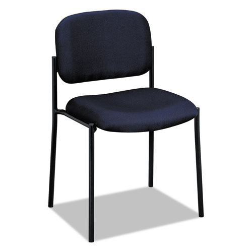 VL606 Stacking Guest Chair without Arms, Navy Seat/Navy Back, Black Base