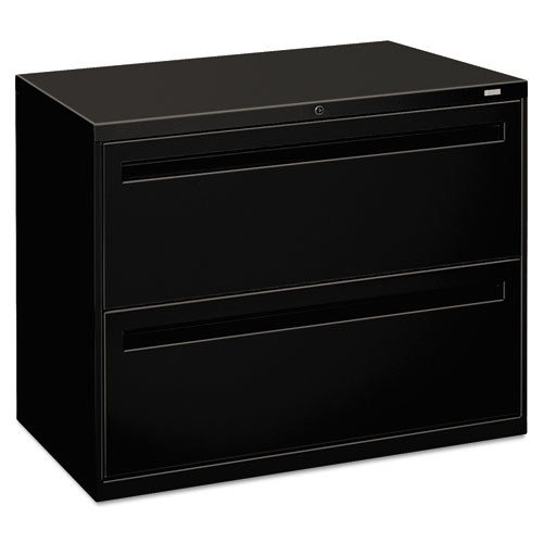 700 Series Two Drawer Lateral File, 36w X 19 1/4d, Black