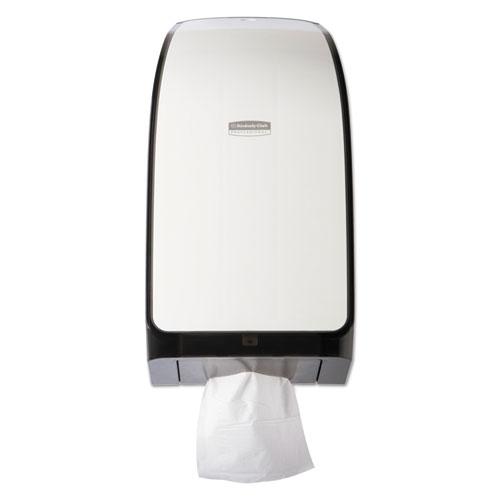 IN-SIGHT Hygienic Interfolded Bath Tissue Dispenser, 7.375x6.375x13 3/4, White