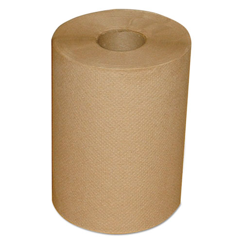 "Morcon Paper Hardwound Roll Towels, 7.88"" x 300 ft, Brown, 12/Carton"
