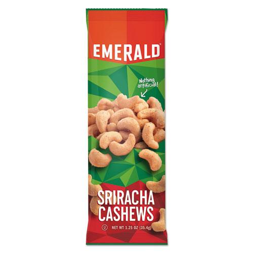 Snack Nuts, Sriracha Cashews, 1.25 oz Tube, 12/Box