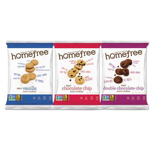 Homefree® Gluten Free Mini Cookies Variety Pack, 1.1 oz/0.95 oz/1.1 oz Packs, 30/Carton