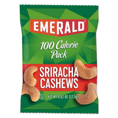 100 Calorie Pack Nuts, Sriracha Cashews, 0.62 oz Pack, 7/Box