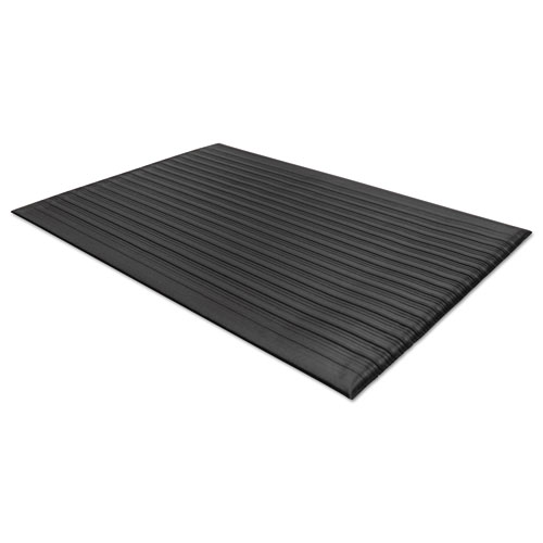 Air Step Antifatigue Mat, Polypropylene, 24 x 36, Black | by Plexsupply