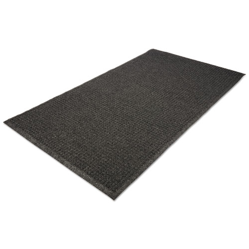 EcoGuard Indoor/Outdoor Wiper Mat, Rubber, 24 x 36, Charcoal | by Plexsupply