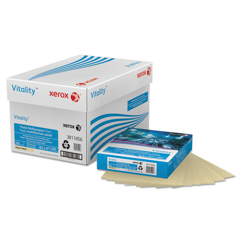 Xerox - multipurpose pastel colored paper, 20-lb, letter, ivory, 500 sheets/ream, sold as 1 rm