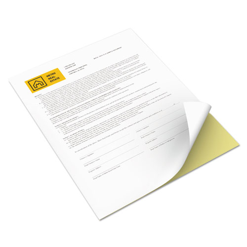 Xerox® Revolution Digital Carbonless Paper, 2-Part, 8.5 x 11, Canary/White, 5, 000/Carton