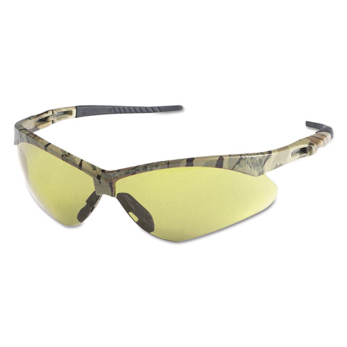Nemesis Safety Glasses, Camo Frame, Amber Anti-Fog Lens