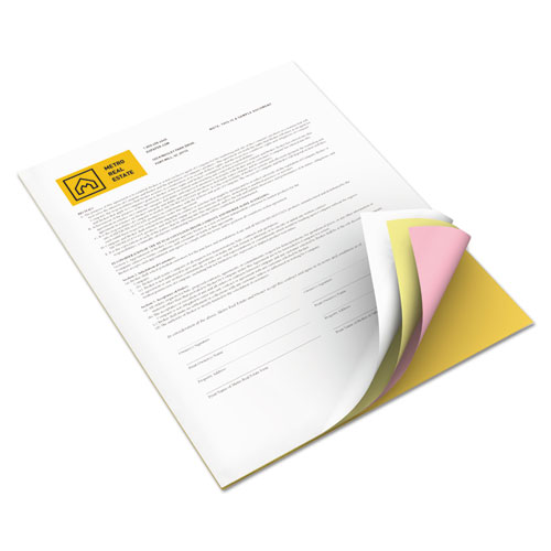 Vitality multipurpose carbonless paper, 8 1/2 x 11, goldenrod/pink/canary/white, sold as 1 carton, 5000 sheet per carton