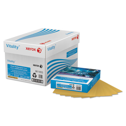 Xerox - multipurpose pastel colored paper, 20-lb, letter, gold, 500 sheets/ream, sold as 1 rm