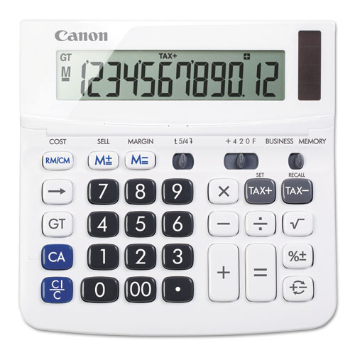 Canon® TX-220TSII Portable Display Calculator, 12-Digit, LCD