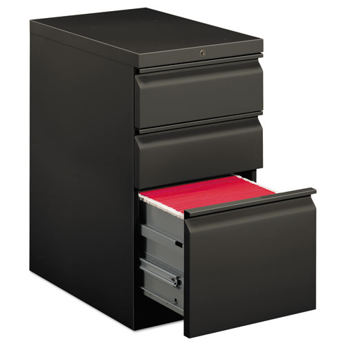 Efficiencies Mobile Box/Box/File Pedestal, 15w x 22.88d x 28h, Charcoal | by Plexsupply