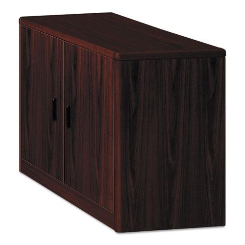 10700 Series Locking Storage Cabinet, 36w x 20d x 29 1/2h, Mahogany | by Plexsupply