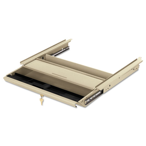 Center Drawer with Core Removable Locks, Use with 38000 Series, 19w x 14.75d x 3h, Putty