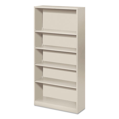 c96085db58e1 HON Metal Bookcase, Five-Shelf, 34-1 2w x 12-5 8d x 71h, Light Gray