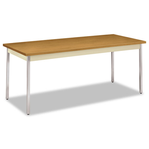 Utility Table, Rectangular, 72w x 30d x 29h, Harvest/Putty | by Plexsupply