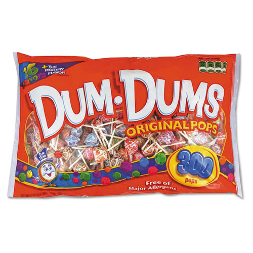 Dum-Dum-Pops, Assorted Flavors, Individually Wrapped, 300/Pack