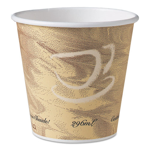 Mistique Hot Paper Cups, 10 oz, Brown, 50/Sleeve, 20 Sleeves/Carton 410MS