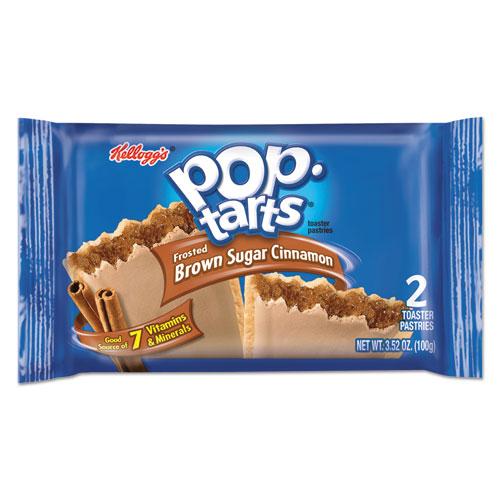 Kellogg's® Pop Tarts, Frosted Brown Sugar Cinnamon, 3.52oz, 2/Pack, 6 Packs/Box