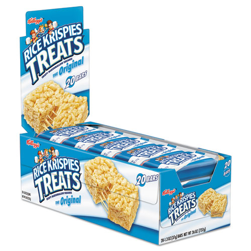 Rice Krispies Treats, Original Marshmallow, 1.3oz Snack Pack, 20/Box