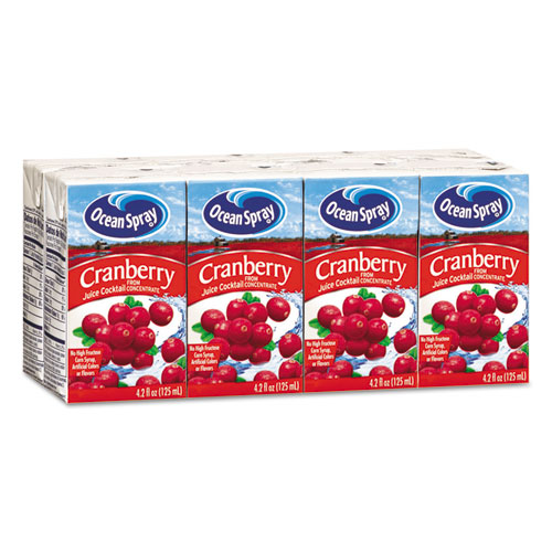 Ocean Spray® Aseptic Juice Boxes, Cranberry, 4.2oz, 40/Carton