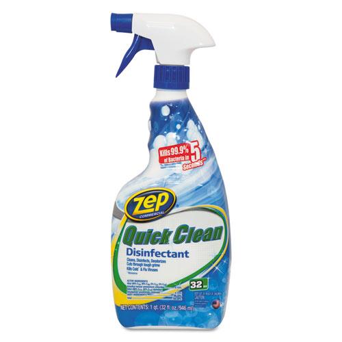 Zep Commercial® 5 Second Quick Clean Disinfectant, 32 oz Spray Bottle