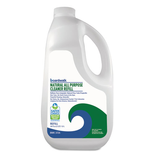 Natural All Purpose Cleaner, Unscented, 64 oz Bottle, 6/Carton