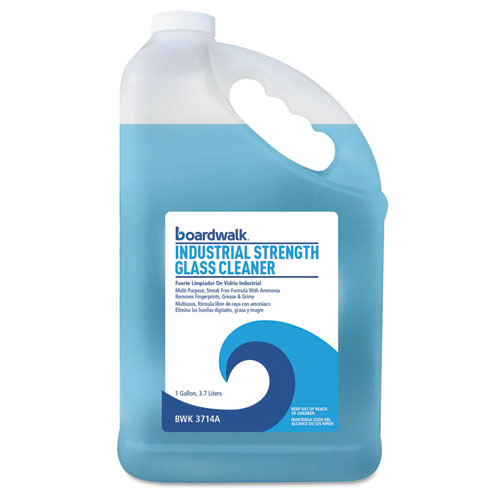 Industrial Strength Glass Cleaner with Ammonia, 1 Gal Bottle, 4/Carton