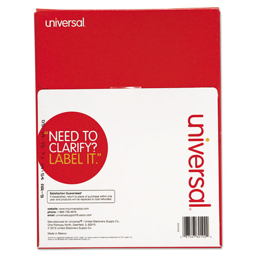 universal laser printer labels template - unv80102 universal laser printer permanent labels zuma